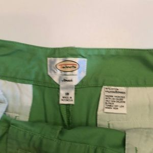Talbots lime green chino cropped pants